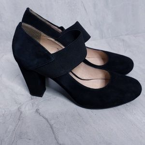 Browns Shoes - Black Strappy Chunky Heels